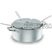 Cuece pastas Chef Aluminio 36