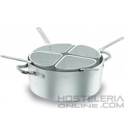 Cuece pastas Chef Aluminio 40