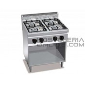 Cocina 4 fuegos + soporte Bertos