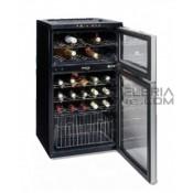Armario expositor de vinos. 2 temperaturas