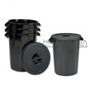 Cubo de basura con tapa 75 Lts