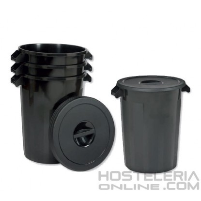 Cubo de basura con tapa 100 Lts