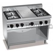 Cocina 4 fuegos + radiante + Horno