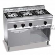 Cocina a gas 3 fuegos+horno Bertos