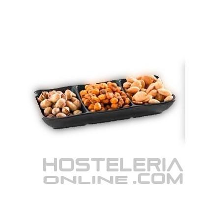 Bandeja snacks o salsas melamina 190 x 80 mm