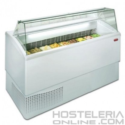 2-Vitrina profesional para helados 6R