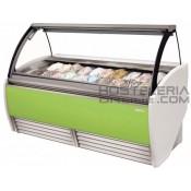 9-Vitrina diseño profesional para helados 16 cubetas