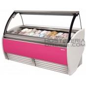 99-Vitrina diseño profesional para helados 20 cubetas