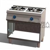 Cocina 2 fuegos+soporte