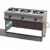 Cocina 3 fuegos+Horno