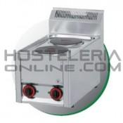 Cocina eléctrica 2 fuegos sobremesa