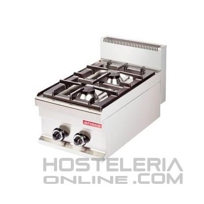 Cocina industrial sobremesa 2 fuegos