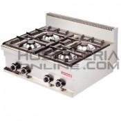 Cocina industrial sobremesa 4 fuegos