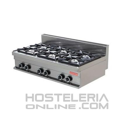 Cocina industrial sobremesa 6 fuegos