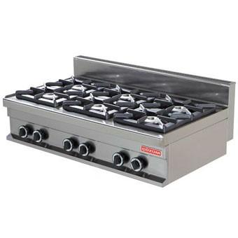 Cocina 6 fuegos sobremesa fondo 70