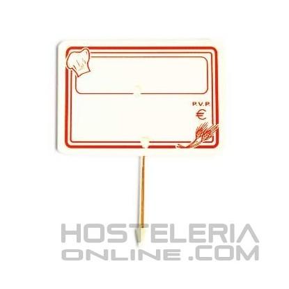 Cartel portaprecios con pincho mod. 5