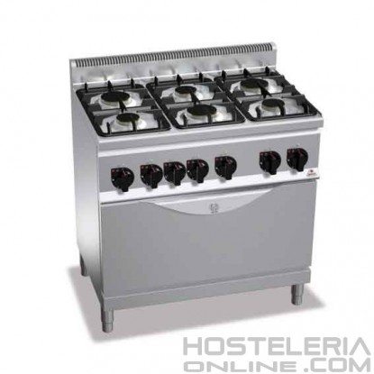 Cocina 6 fuegos + Horno Grande