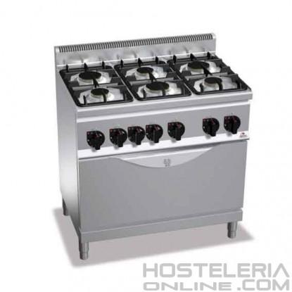 Cocina 6 fuegos horno bertos for Cocina 6 fuegos industrial