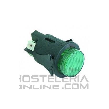 Interruptor pulsador Redondo Verde