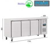 Mesa Refrigerada 3 puertas - Fondo 60