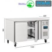 Mesa Refrigerada 2 puertas - Fondo 60
