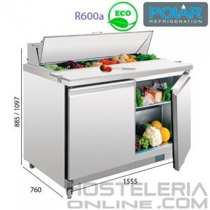 Mesa refrigerada preparación de alimentos
