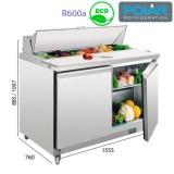 Mesa fría preparación de alimentos 1555