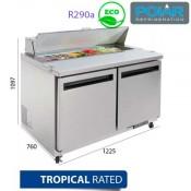 Mesa fría preparación de alimentos