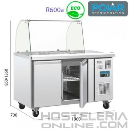 Mostrador frigorífico para exposición alimentos