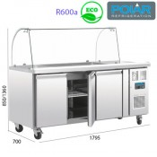 Mostrador refrigerado para exposición alimentos