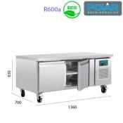 Mesa Refrigerada para alojar equipos de cocción 1360