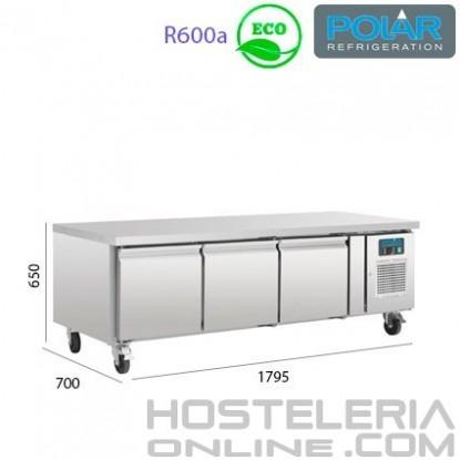 Mesa Refrigerada para alojar equipos de cocción 1795