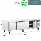 Mesa Refrigerada para alojar equipos de cocción
