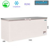 Arcón congelador puerta abatible 1995mm