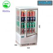 Expositor refrigerado 4 caras 68 lts Polar