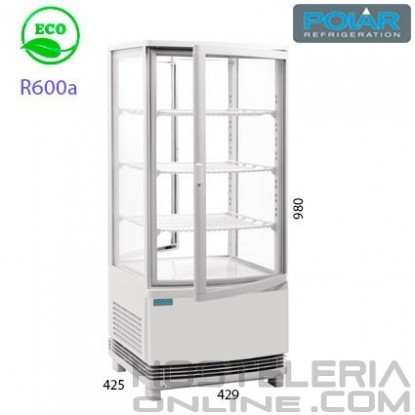 Expositor refrigerado 4 caras 86 lts Blanco