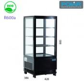 Expositor refrigerado 4 caras 68 lts Negro