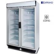 Armario congelación con dos puertas cristal
