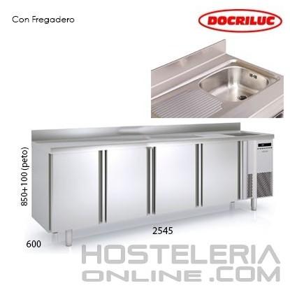 Mesa Refrigerada 2500 con fregadero
