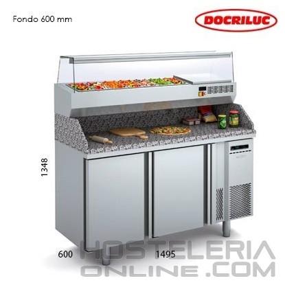 Mesa fría para pizza 1500
