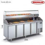 Mesa fría para pizza 2500