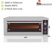 Horno pizza industrial 4 x 330 mm
