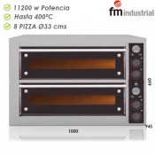 Horno pizza profesional 8 x 330 mm