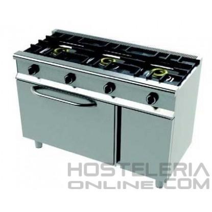 Cocina 3 fuegos+horno Snack