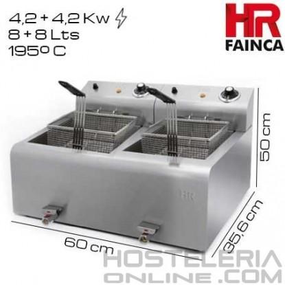 Freidora 8+8 litros HR Alto Rendimiento