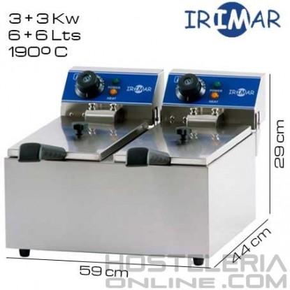 Freidora DOBLE 6+6 litros IRIMAR