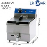 Freidora 6 litros IRIMAR (Con grifo)