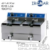 Freidora DOBLE 6+6 litros IRIMAR (Con grifo)