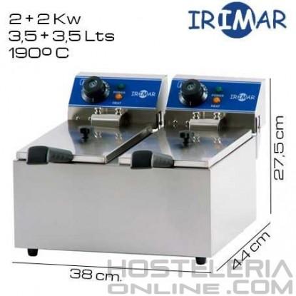 Freidora DOBLE 4+4 litros IRIMAR