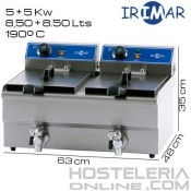 Freidora DOBLE 8,5 + 8,5 litros IRIMAR (Con grifo)